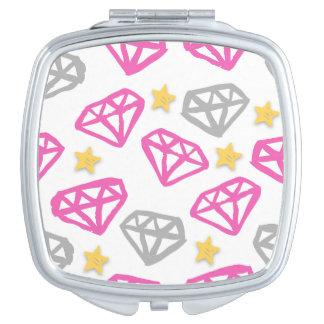De Spiegel van diamanten & van Sterren Makeup Spiegel
