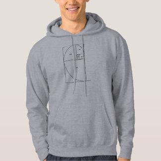 De Spiraal van Fibonacci Sweatshirt Met Capuchon