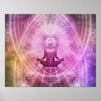 De spirituele Meditatie Kleurrijke Zen van de Yoga Poster