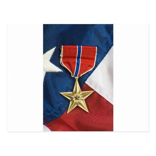 De Ster van het brons op Amerikaanse vlag Wenskaarten