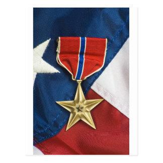 De Ster van het brons op Amerikaanse vlag Briefkaart