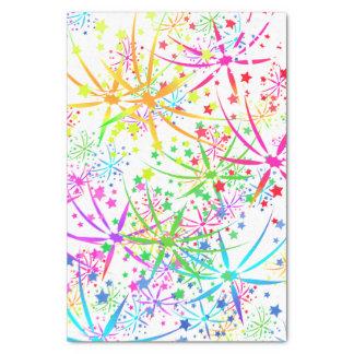 De ster van het de regenboogvuurwerk van het tissuepapier
