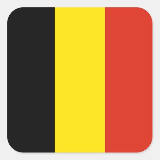 De Sticker van de Vlag van België
