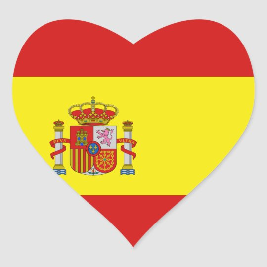 De Sticker Van Het Hart Van De Vlag Van Spanje Zazzle Be