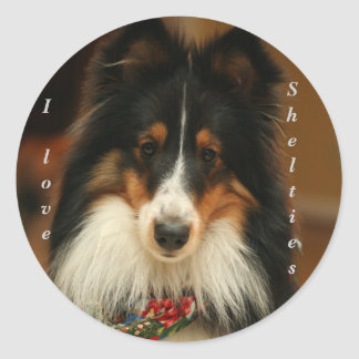 De sticker van Sheltie