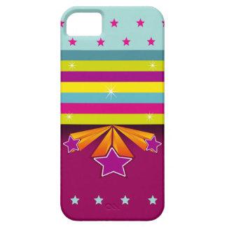 De Strepen van de kleur Vector tri-Ster iPhone 5 Case-Mate Hoesjes