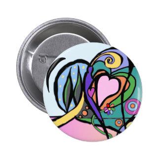 De stroom Modern art. van het hart Ronde Button 5,7 Cm