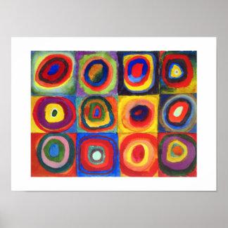 De Studie van de kleur door Wassily Kandinsky Poster