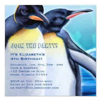 De Stut van de pinguïn de Uitnodiging van 5.25 x