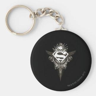 De superman stileerde het Witte Logo van de Ster Sleutelhanger