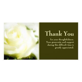 De sympathie dankt u fotokaart sjabloon