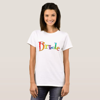 De T-shirt van de Regenboog van de bruid