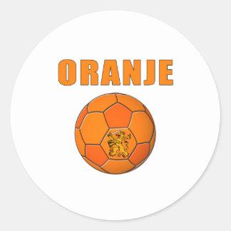 De T-shirts van Voetbal van Oranje Ronde Sticker