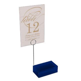 De Tableau de porte-cartes bleu uni Porte-cartes De Table