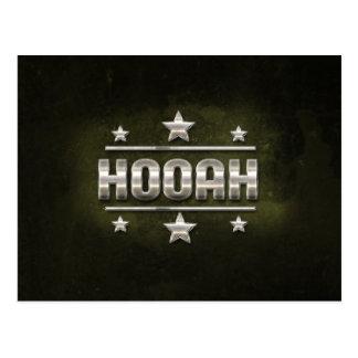 De Tekst van Hooah van het metaal Briefkaart