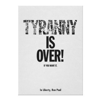 De tirannie is over als u het Vrijheid Ron Paul wi Canvas Afdrukken