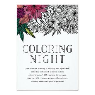 De tropische Bloemen het Kleuren Uitnodiging van