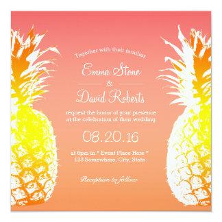 De tropische Uitnodigingen van het Huwelijk van de