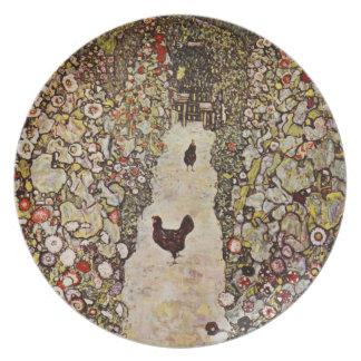 De Tuin van Klimt met het Bord van Hanen