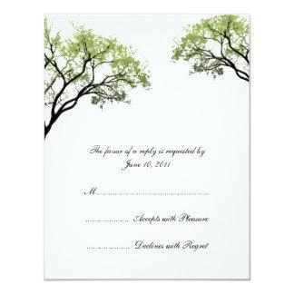 De Uitnodiging RSVP van het Huwelijk van de Bomen