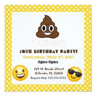 De uitnodiging van de de stipverjaardag van Emoji