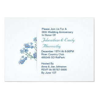 de uitnodiging van de huwelijksverjaardag 12,7x17,8 uitnodiging kaart