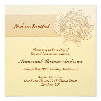 de uitnodiging van de huwelijksverjaardag