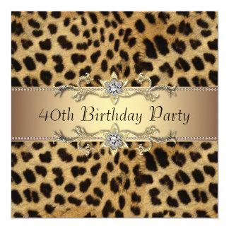 De Uitnodiging van de Partij van de Verjaardag van 13,3x13,3 Vierkante Uitnodiging Kaart