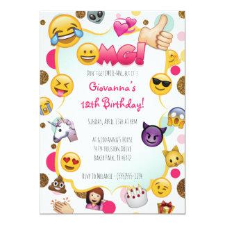 De Uitnodiging van de Verjaardag van Emoji - Emoji