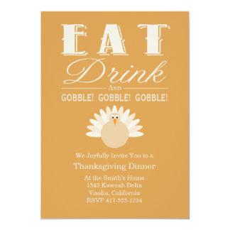 De Uitnodiging van het Diner van de Thanksgiving