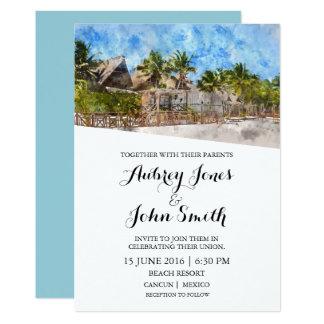 De Uitnodiging van het Huwelijk van het Strand van