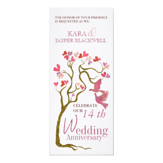 De uitnodigingen van de het huwelijksverjaardag 10,2x23,5 uitnodiging kaart