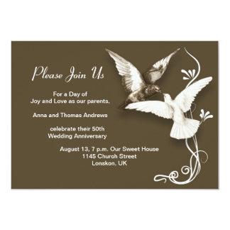 de uitnodigingen van de huwelijksverjaardag 12,7x17,8 uitnodiging kaart