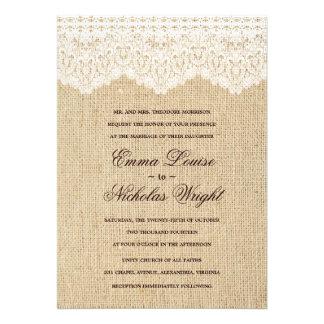 De Uitnodigingen van het Huwelijk van de jute en v