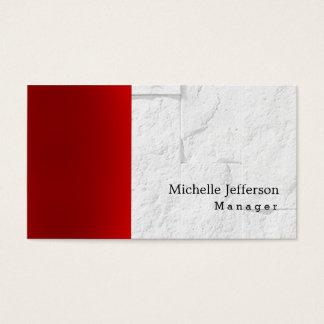 De unieke Modieuze Rode Grijze Baksteen van de Visitekaartjes