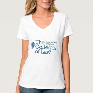 De v-Hals van Hanes van COL. Vrouwen Nano T-shirt