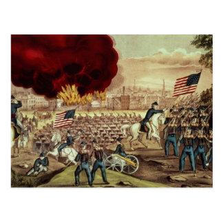 De vangst van Atlanta door het Leger van de Unie Briefkaart