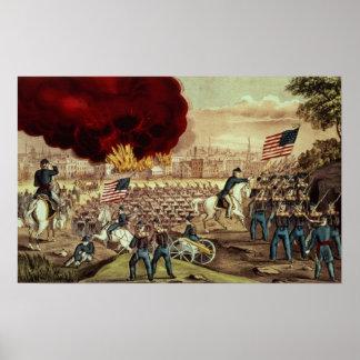 De vangst van Atlanta door het Leger van de Unie Poster