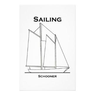 De varende gaff-Gemonteerde Zeilboot van de Briefpapier