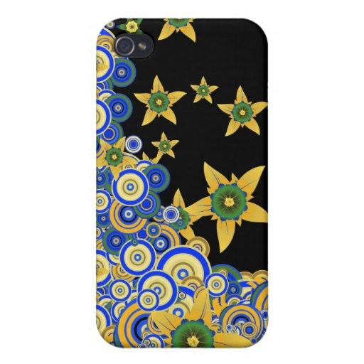 De Vector van de Bloem van de ster iPhone 4/4S Hoesjes