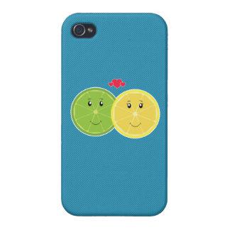 De Vector van Kawaii van de citroen & van de Liefd iPhone 4 Hoesje