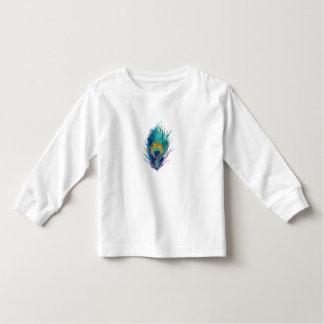 De veerpatroon van de pauw kinder shirts