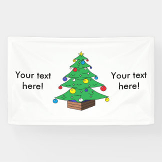 De verfraaide cartoon van de Kerstboom Spandoek
