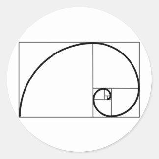 De Verhouding van Fibonacci Ronde Stickers