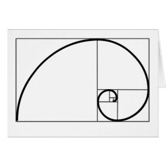 De Verhouding van Fibonacci Wenskaart