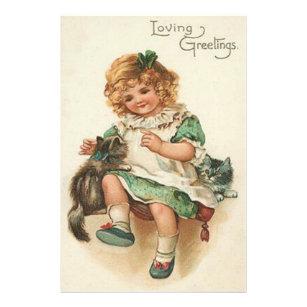 Gelukkige Verjaardag Kat Kunst Posters En Afdrukken Zazzlebe