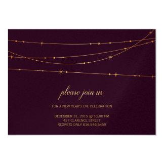 De Verjaardag van de Kleur van de wijn/de 12,7x17,8 Uitnodiging Kaart