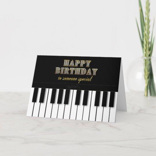 De Verjaardag Van De Piano Speciaal Iemand Kaart Zazzle Be