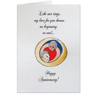 De verjaardagskaart van het huwelijk wenskaart