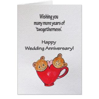 De verjaardagswensen van het huwelijk wenskaart